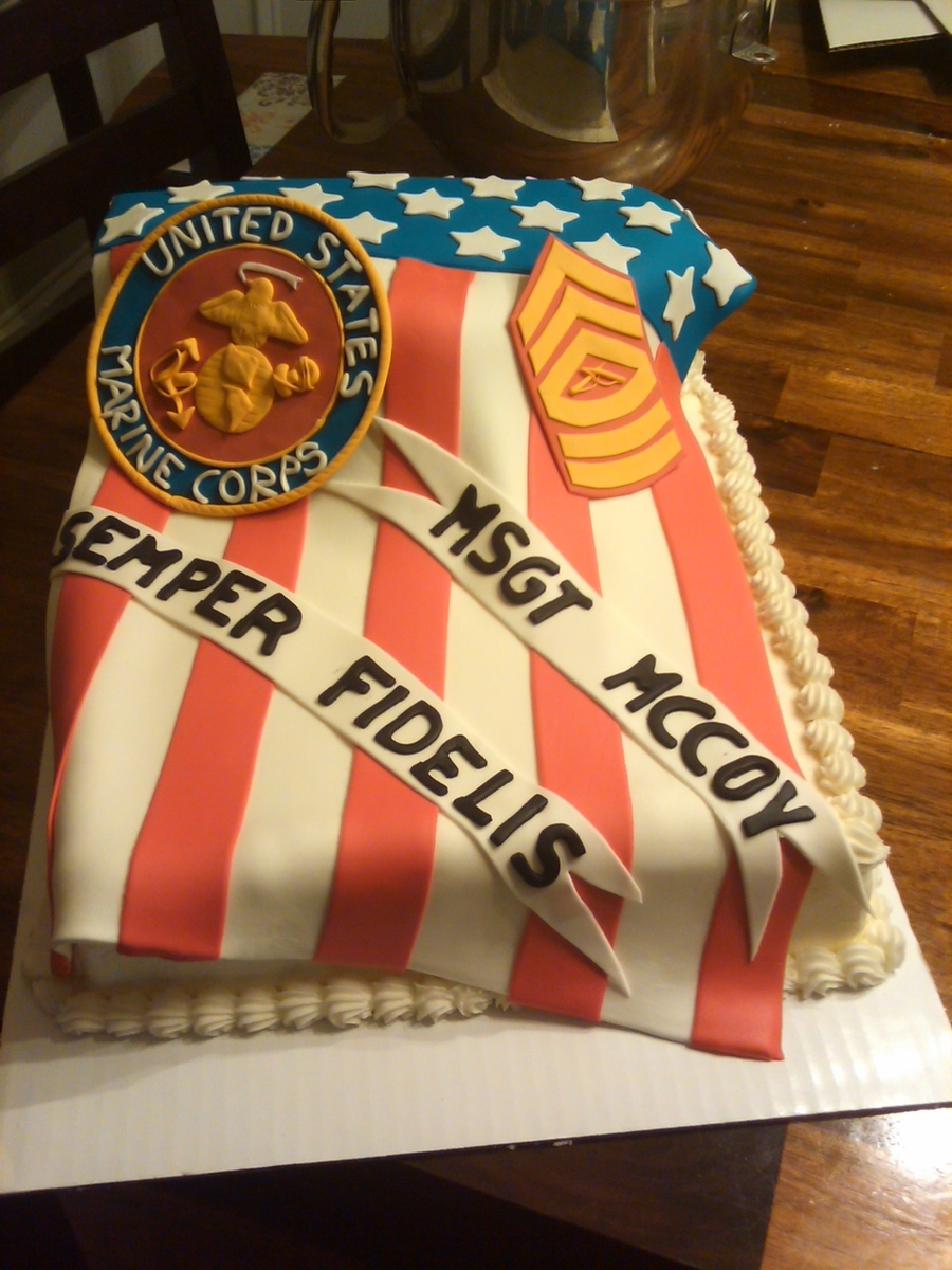 Marine Corps Retirement on Cake Central