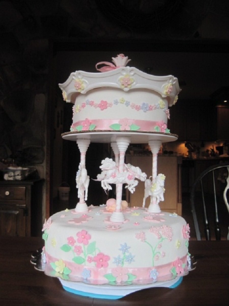 Carousel Baby Shower Cake Cakecentral Com