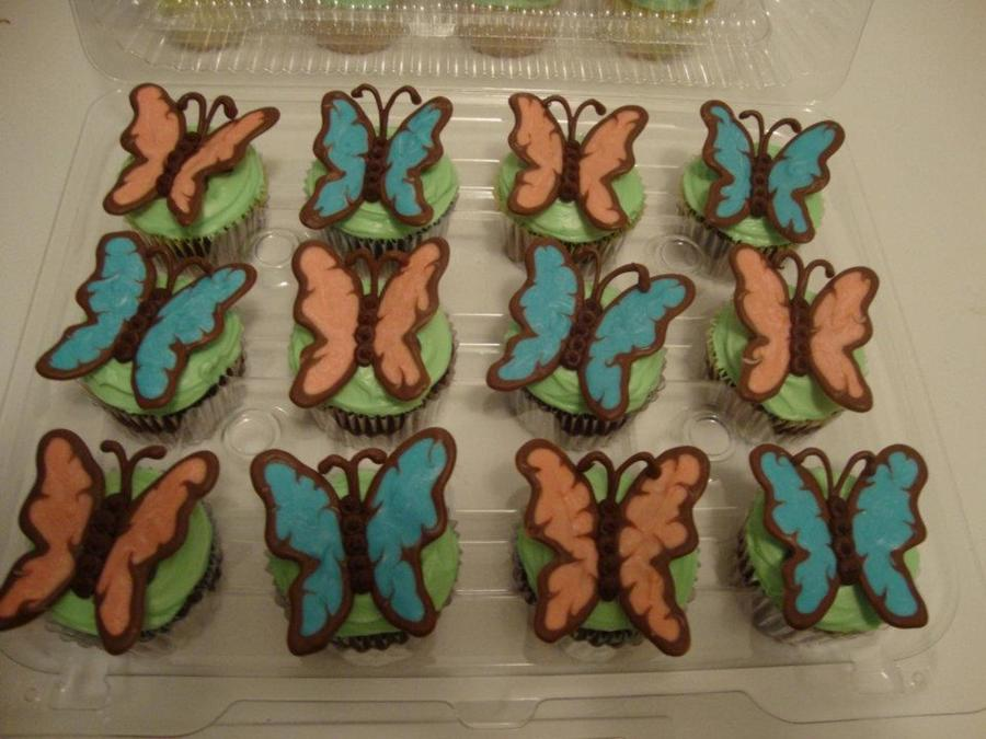 My First Pic Uploaded To Cake Central The Butterflies Are Made From Wilton Melting Chocolates Thanks For Looking on Cake Central