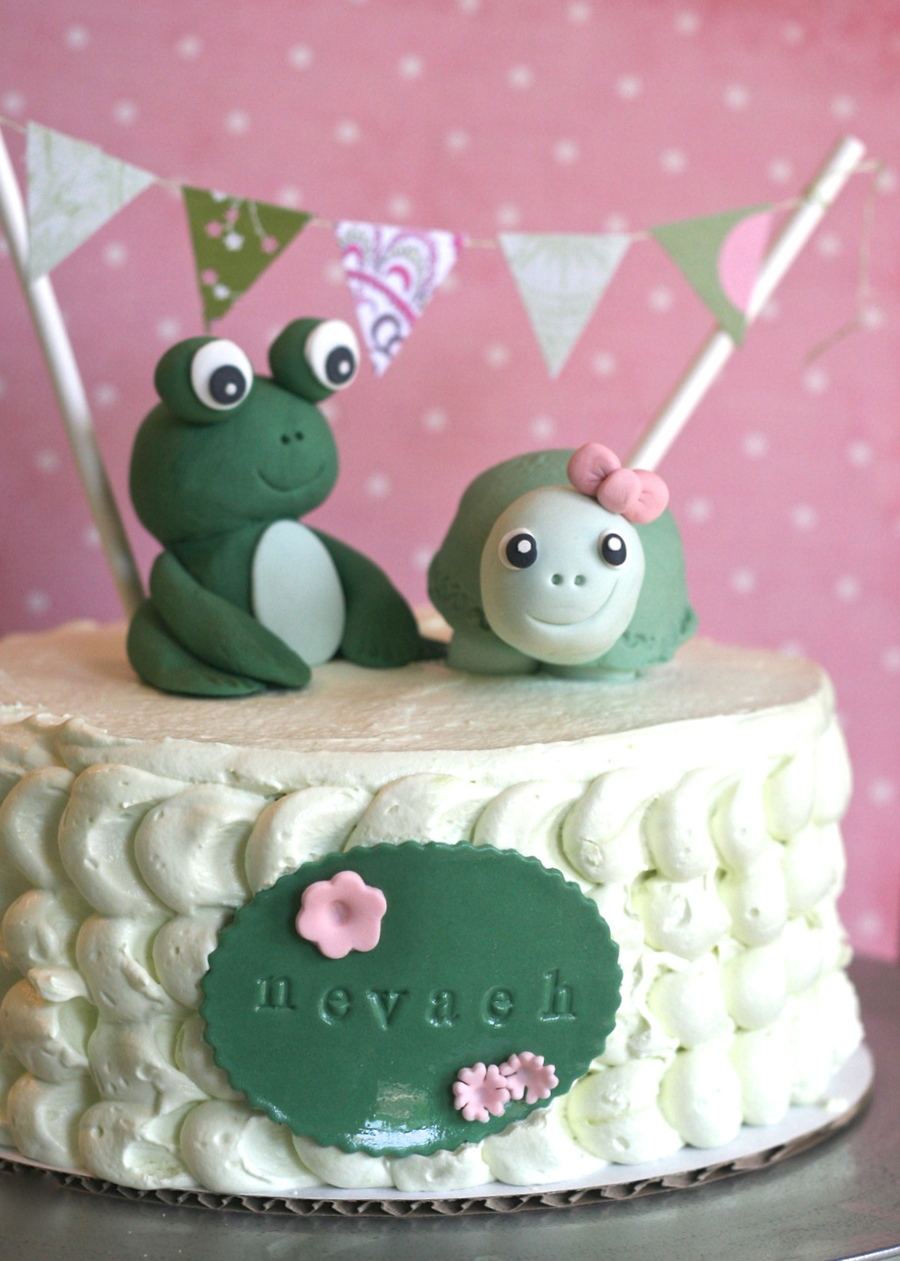 Green Frog And Turtle Birthday Cake Cakecentral