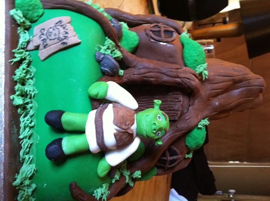 Superb Shrek Birthday Cake Cakecentral Com Funny Birthday Cards Online Benoljebrpdamsfinfo