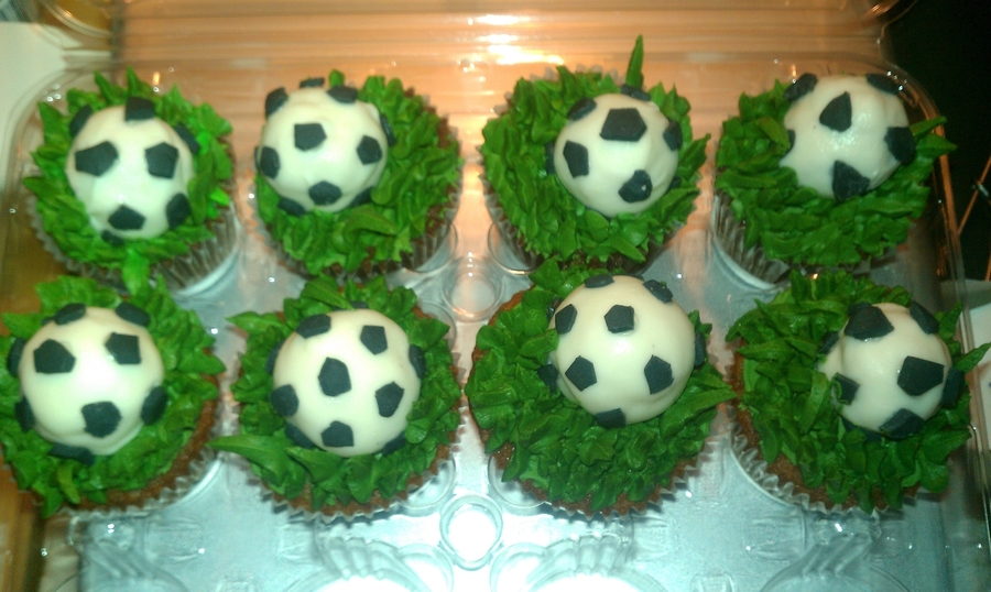 Soccer Cupcakes  on Cake Central