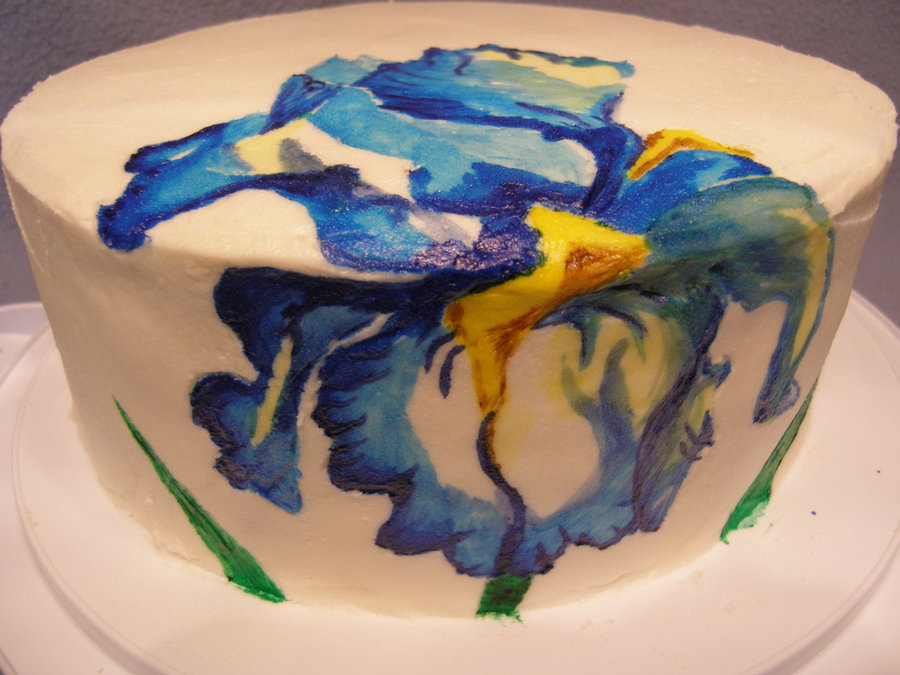 Blue Iris on Cake Central