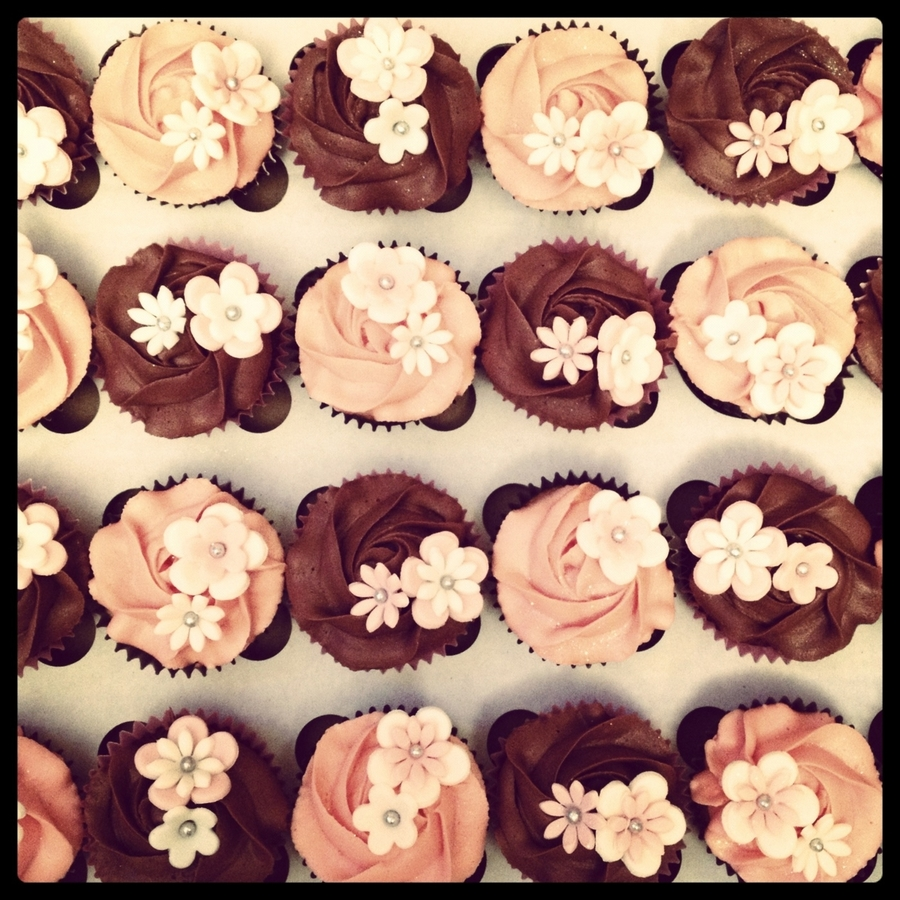 Chocolate And Vanilla Cupcakes on Cake Central