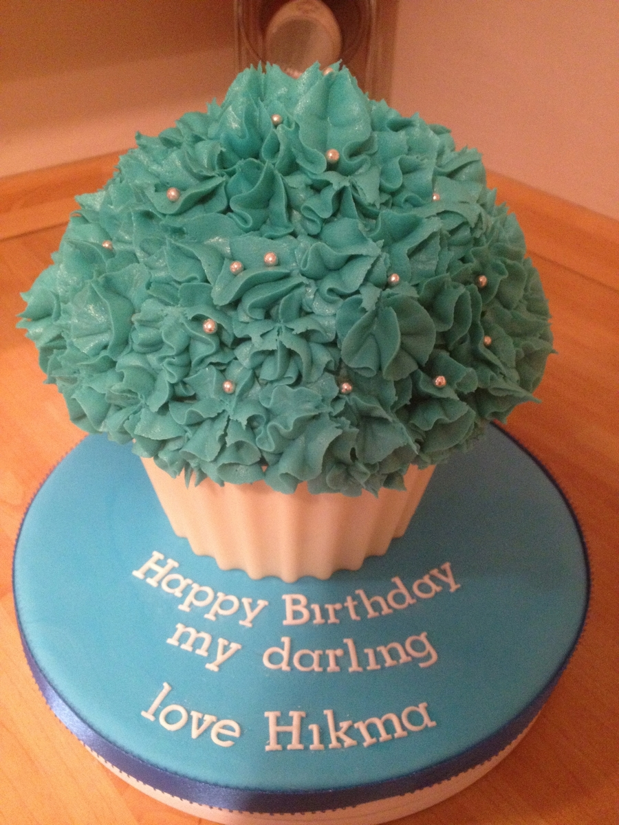 Giant Blue Cupcake on Cake Central
