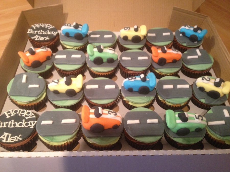 Racing Car Cupcakes  on Cake Central