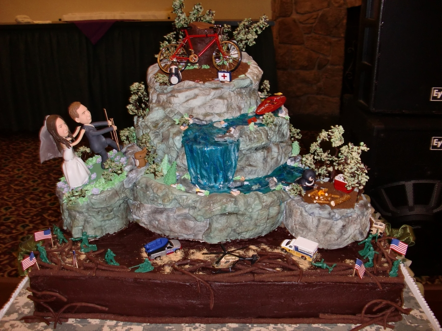 Mountain Biking, Kayaking And Fishing Groom's Cake - CakeCentral.com
