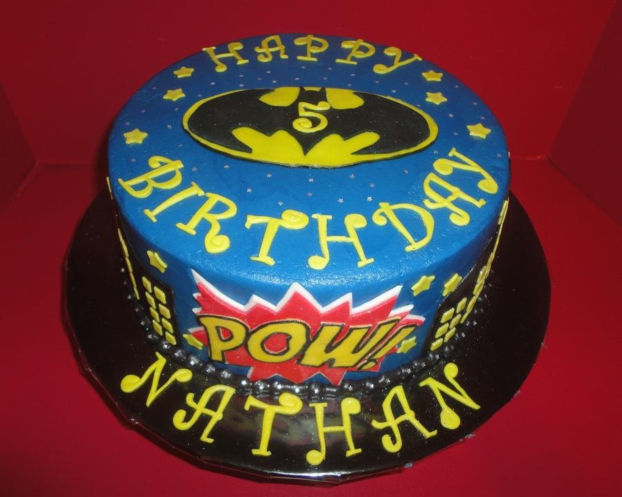Batman Happy Birthday Nathan Cakecentral Com