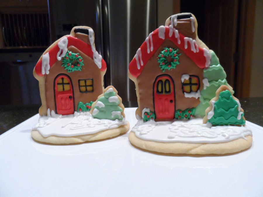 Christmas Cottage on Cake Central