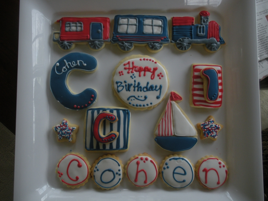Cohen's First Birthday on Cake Central