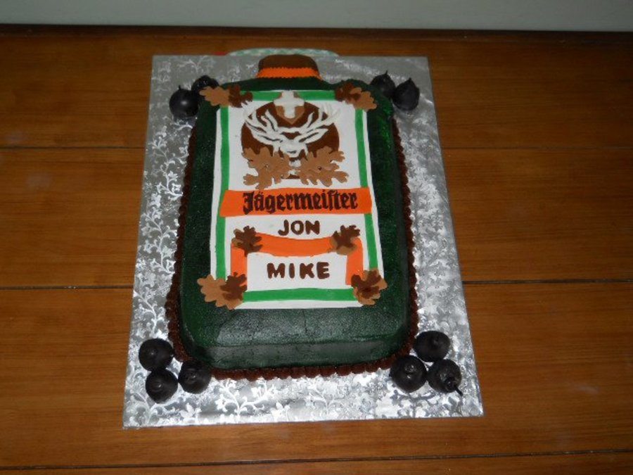 Jagermeister Cake Topper