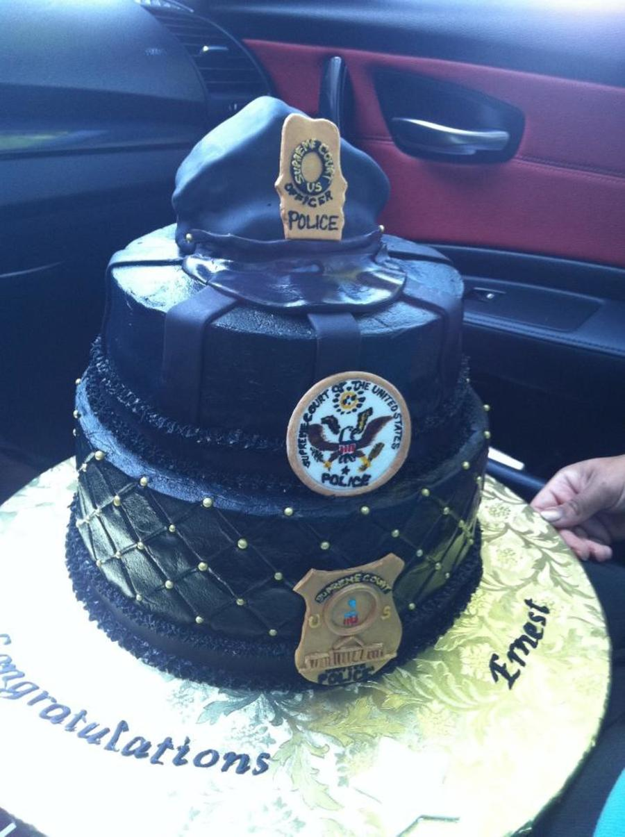 Police Retirement Cake Images