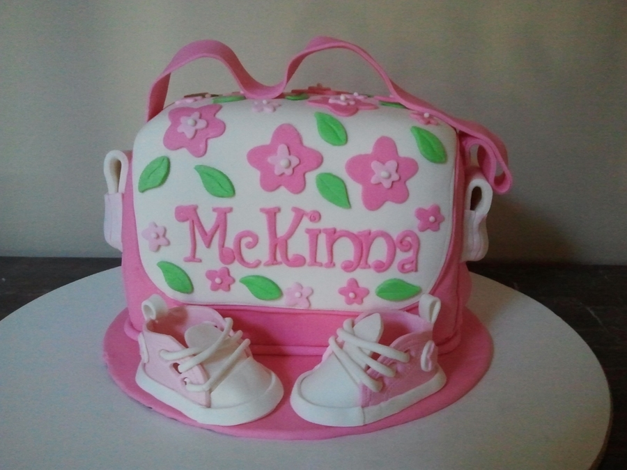 Diaper Bag And Converse on Cake Central