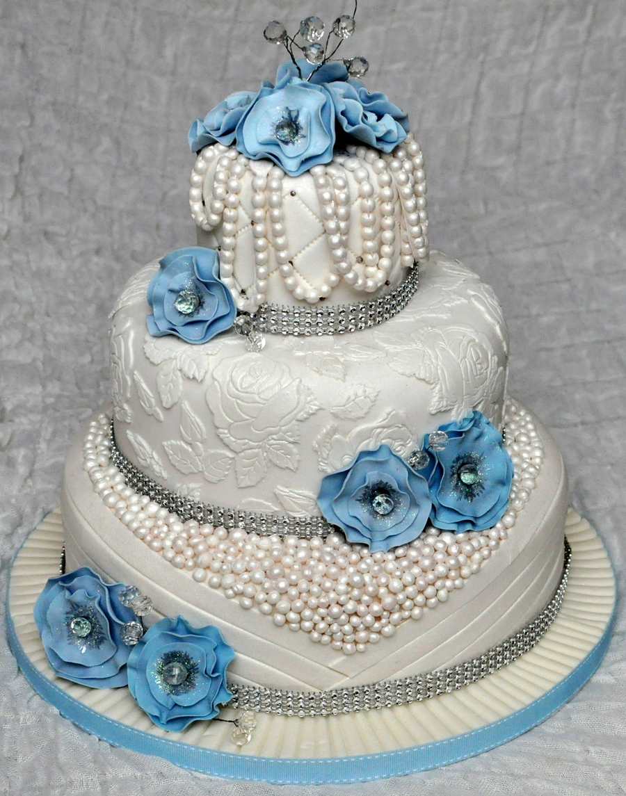 3 Tier Wedding Cake on Cake Central