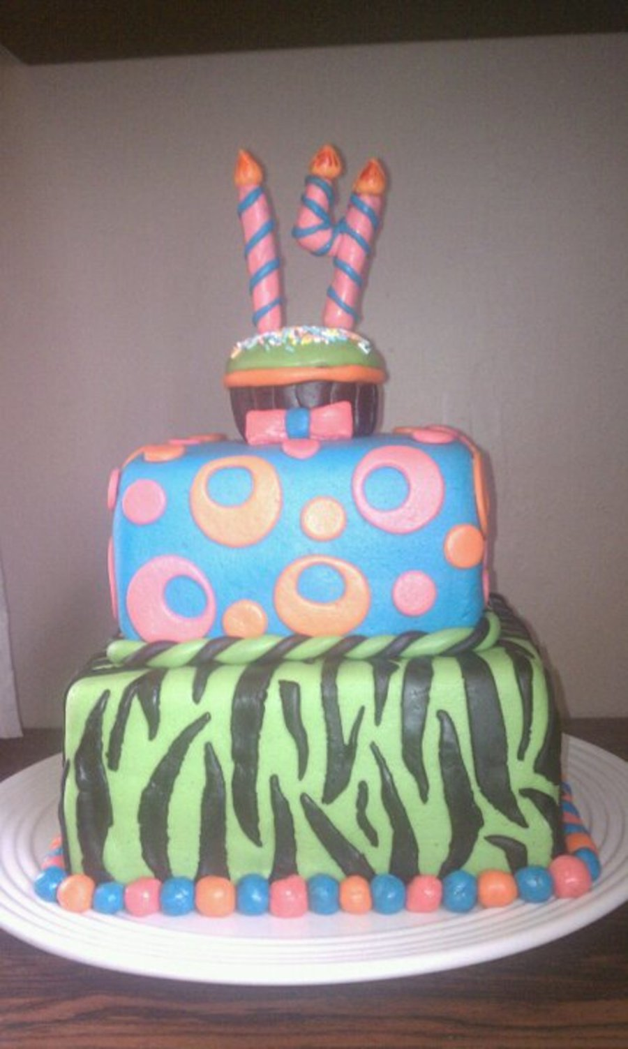 14 Th B-Day Square Cake on Cake Central