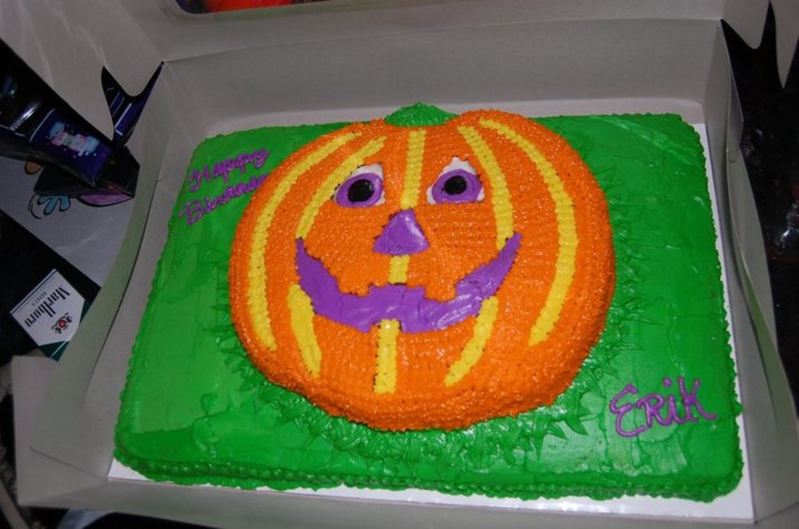 Pumpkin Birthday Cake on Cake Central