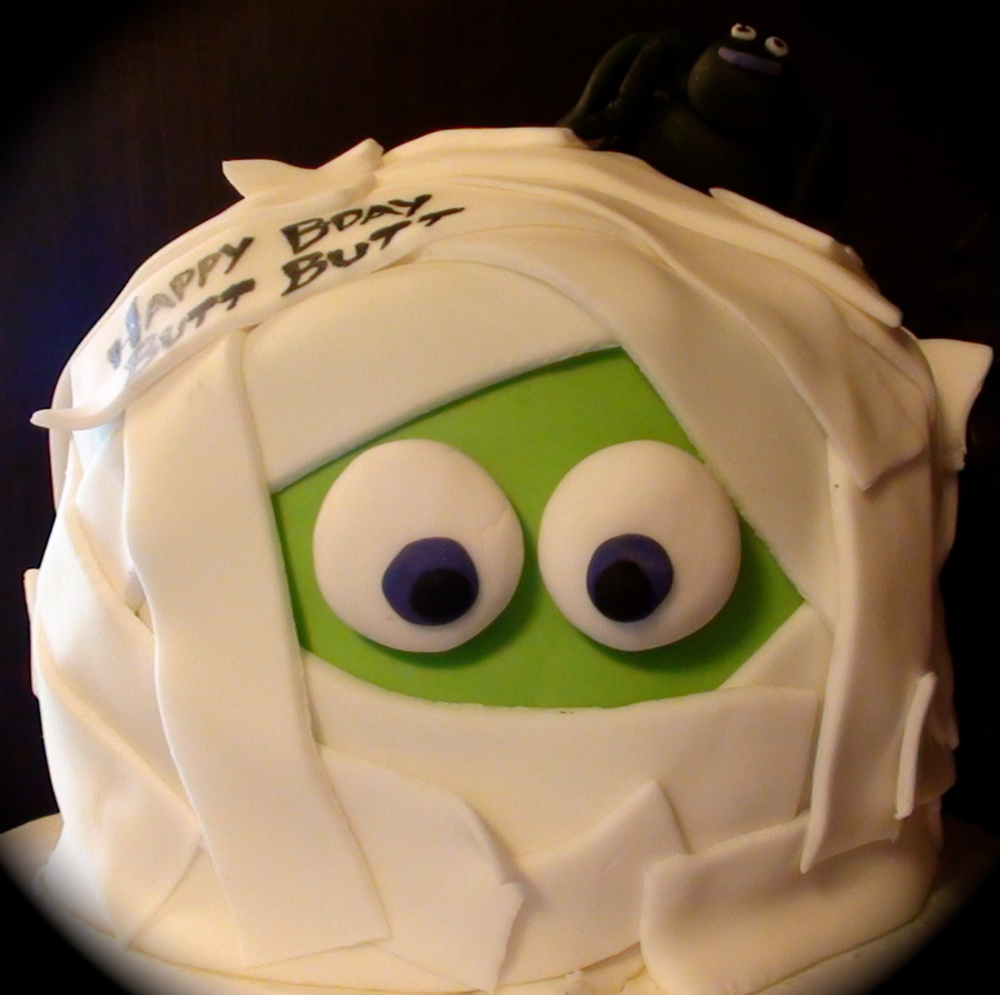 Mummy Head Cake on Cake Central