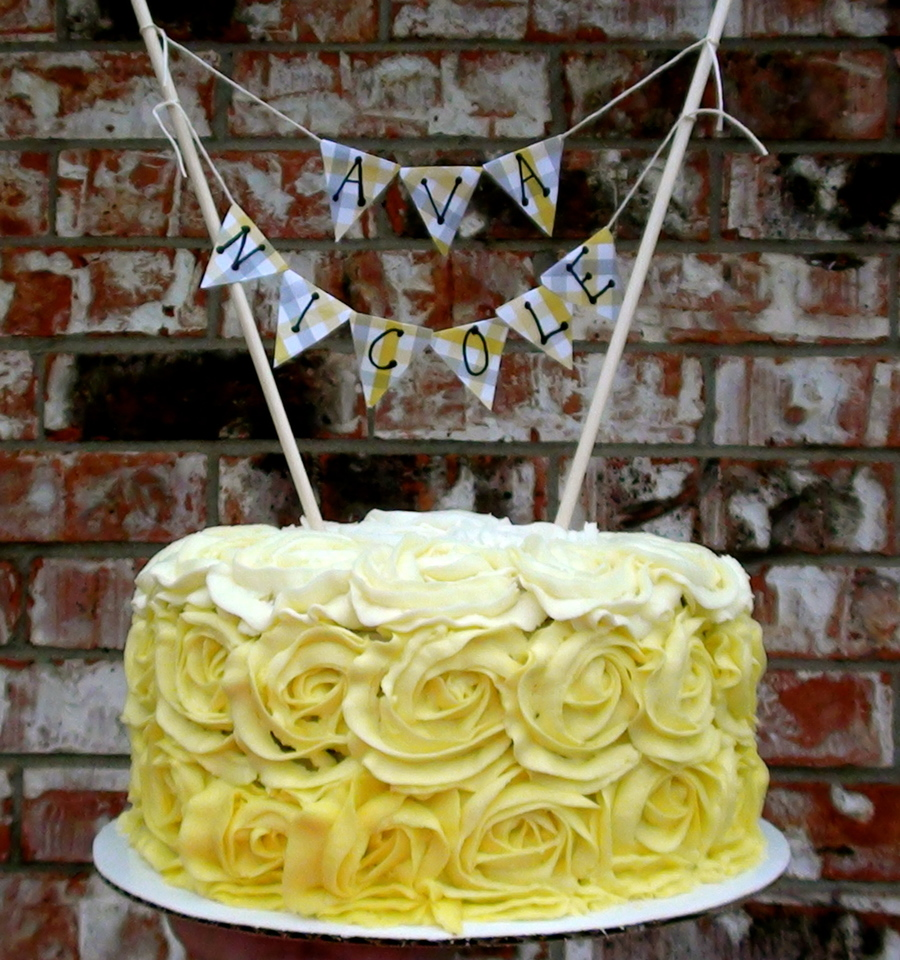 Yellow Ombre Rosette Cake on Cake Central