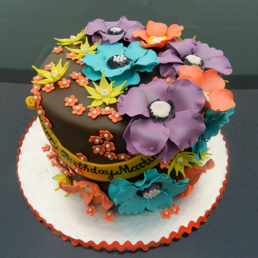 Bright Flowers on Cake Central