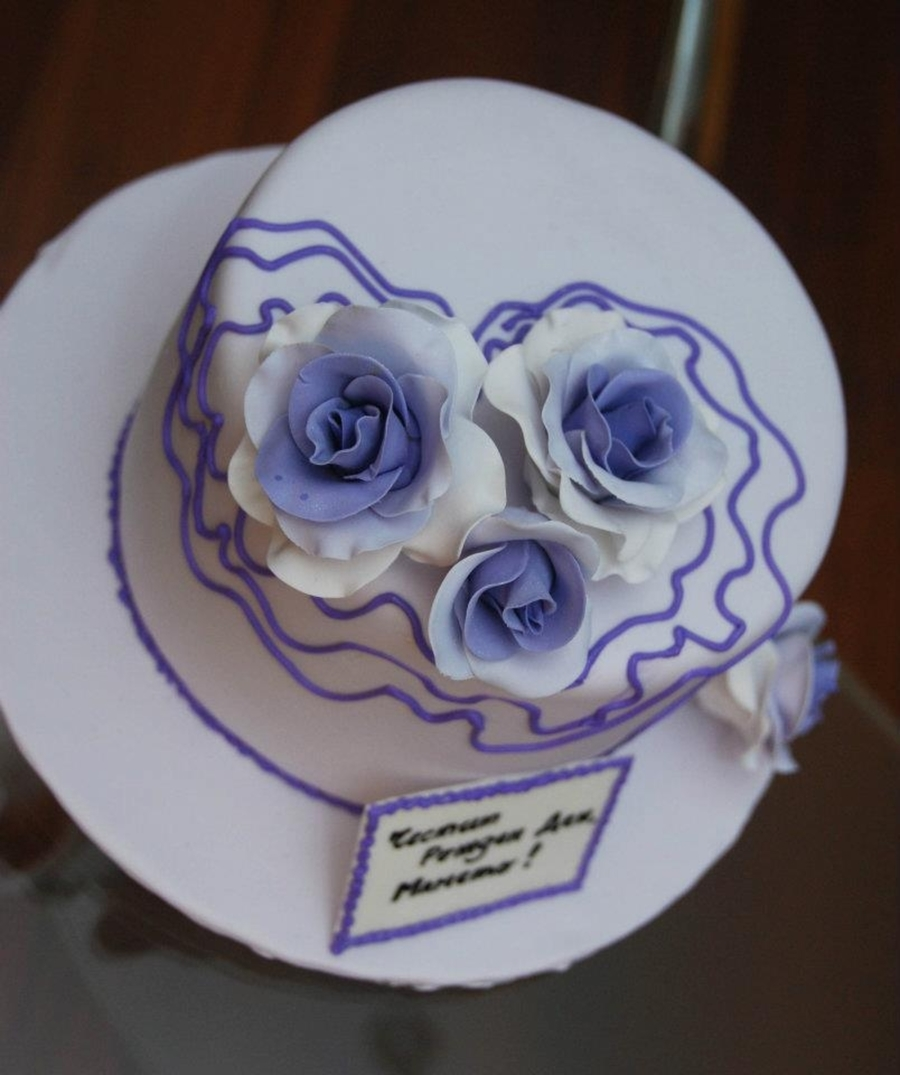 Lavender Roses on Cake Central
