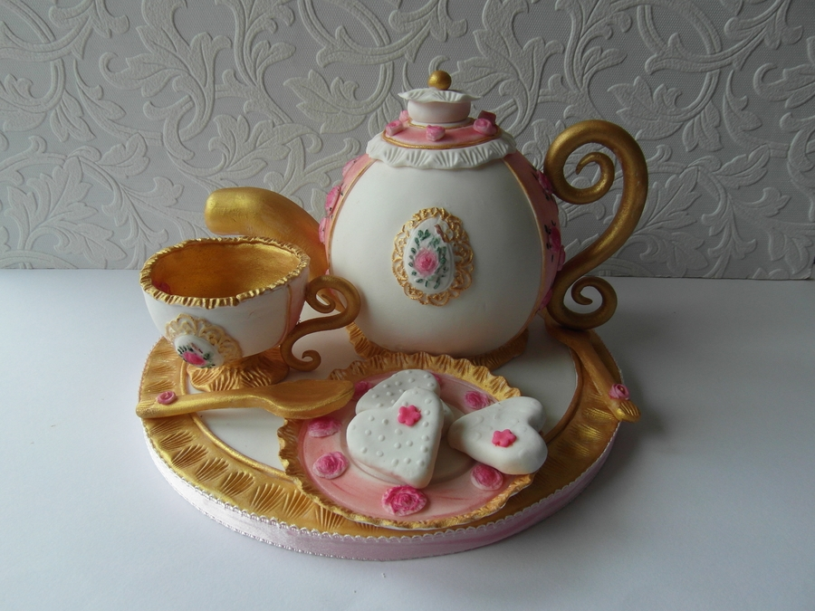 A Tea Set on Cake Central