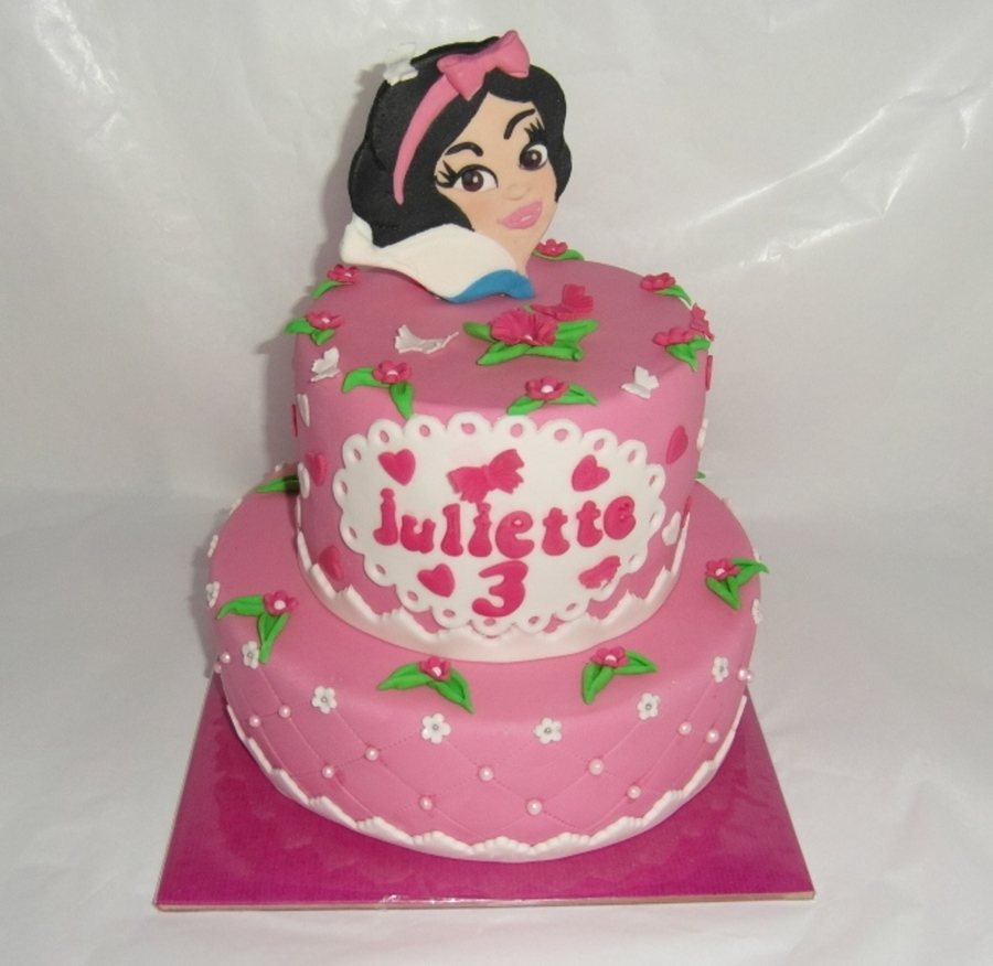 For The Birthday Juliette Snow White on Cake Central