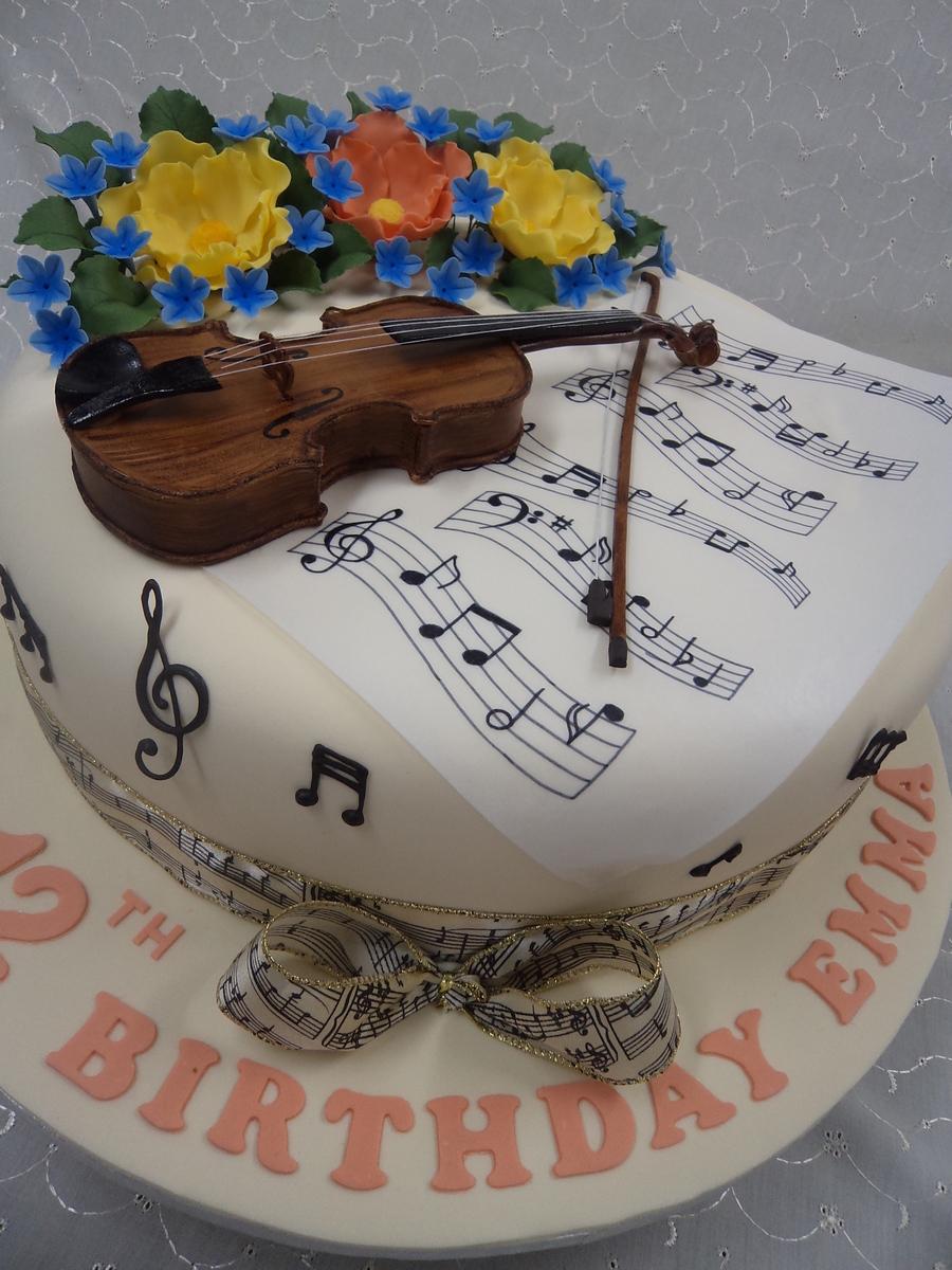 Music Notes Birthday Cake Designs