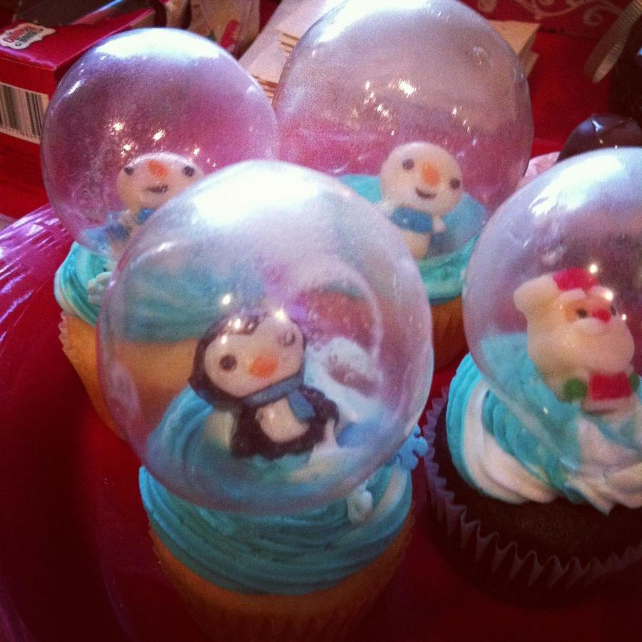 Snow Globe Cupcakes!  on Cake Central