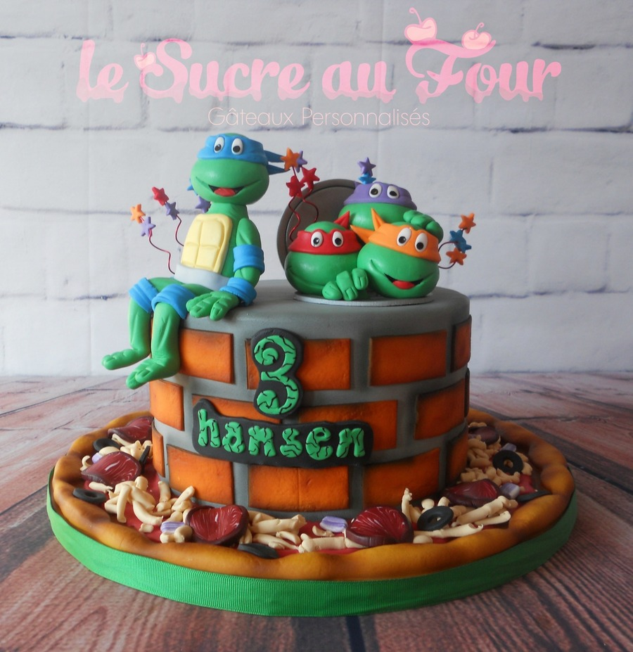 tmnt cake. Black Bedroom Furniture Sets. Home Design Ideas