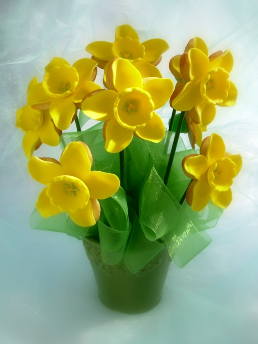 Daffodil Cookie Bouquet on Cake Central
