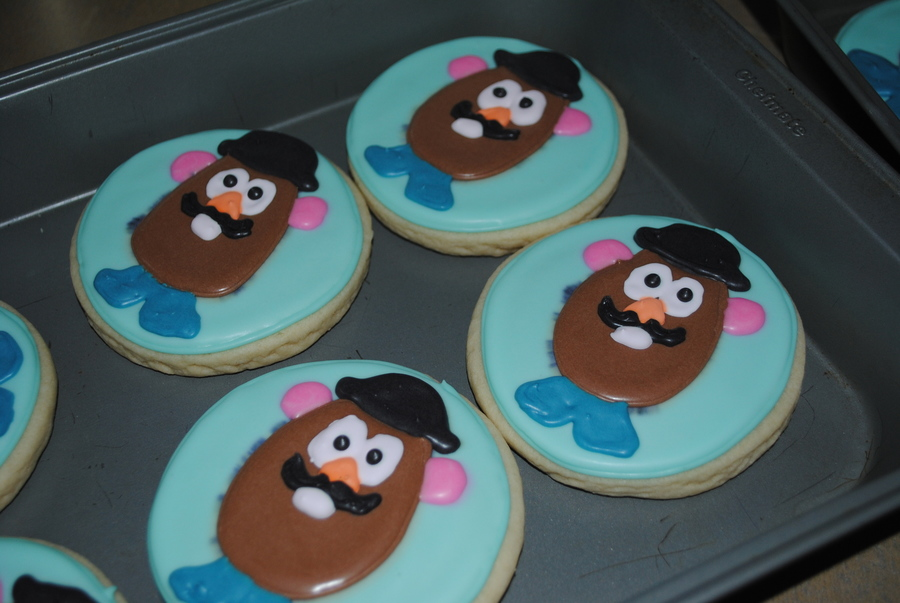 Mr Potato Head Cookies on Cake Central