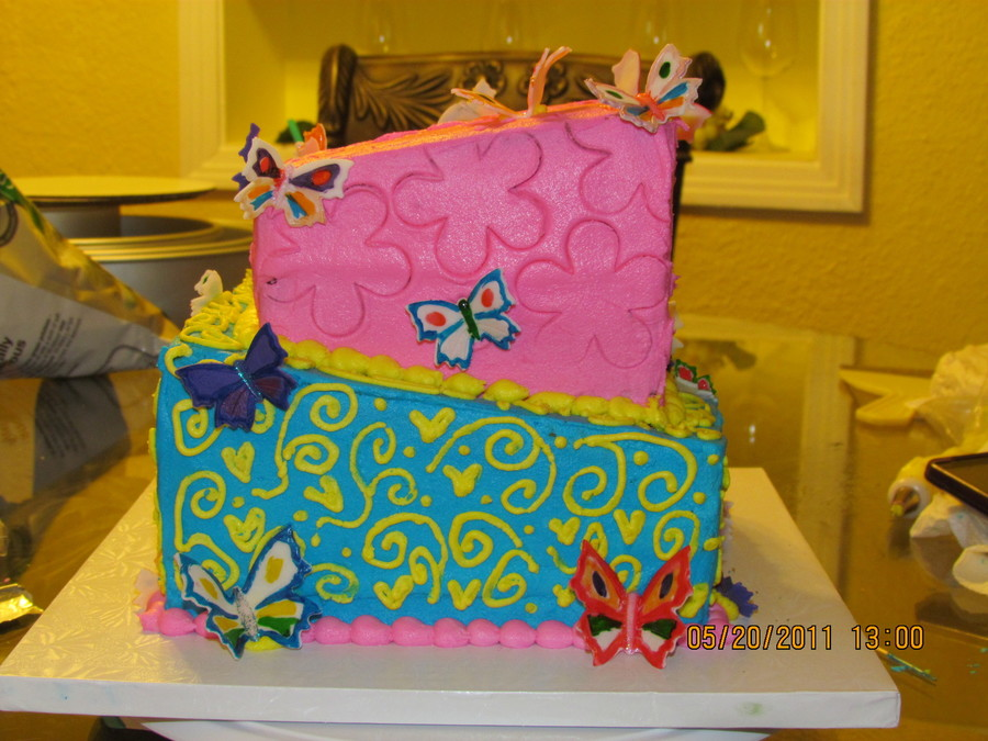 Butterflies And Happiness on Cake Central