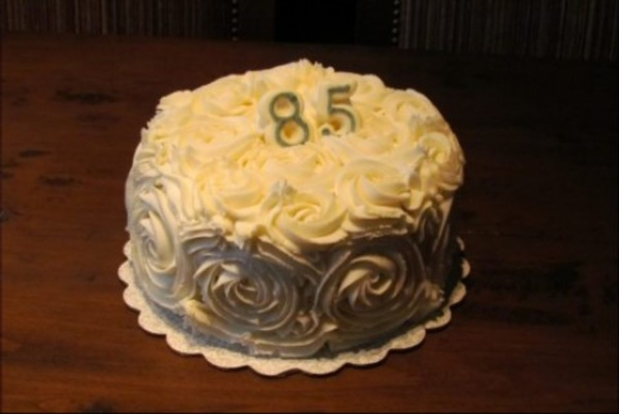 Rose Swirl 85Th Birthday Cake On Central