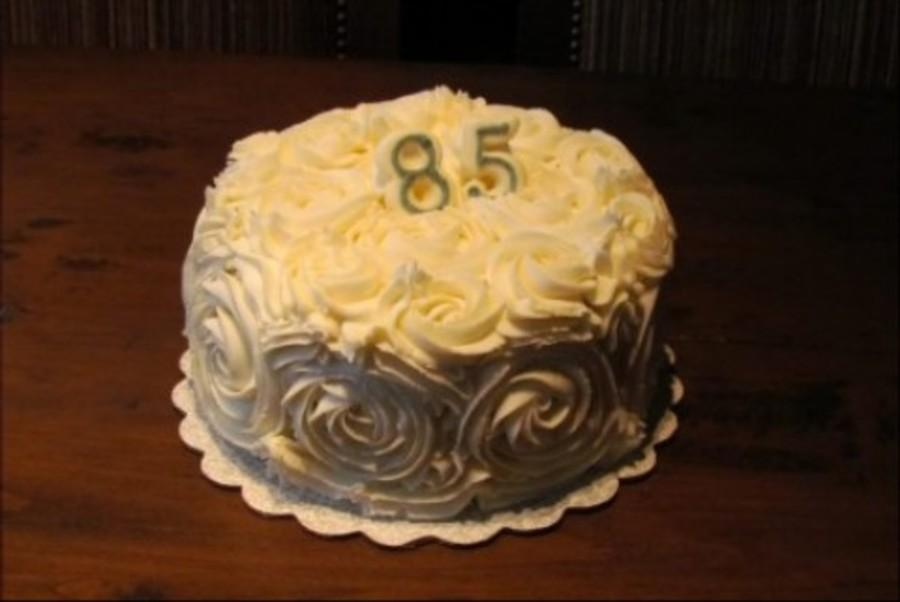 Rose Swirl 85th Birthday Cake Cakecentral