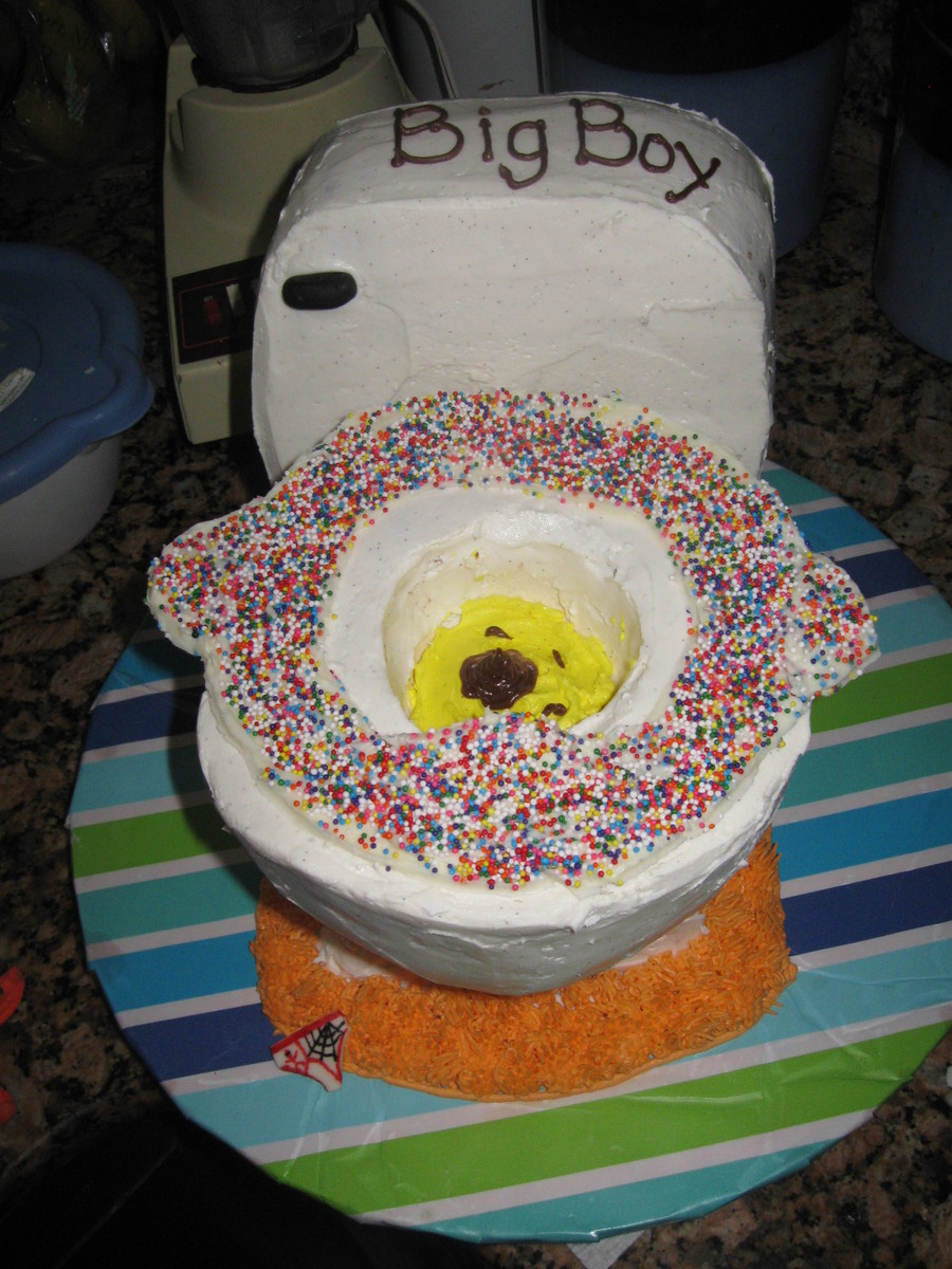 Potty Cake Made For My Son I Told Him That Once He Was Fully Potty Trained I Would Make Him A Potty Cake To Celebrate Im All About Brib on Cake Central
