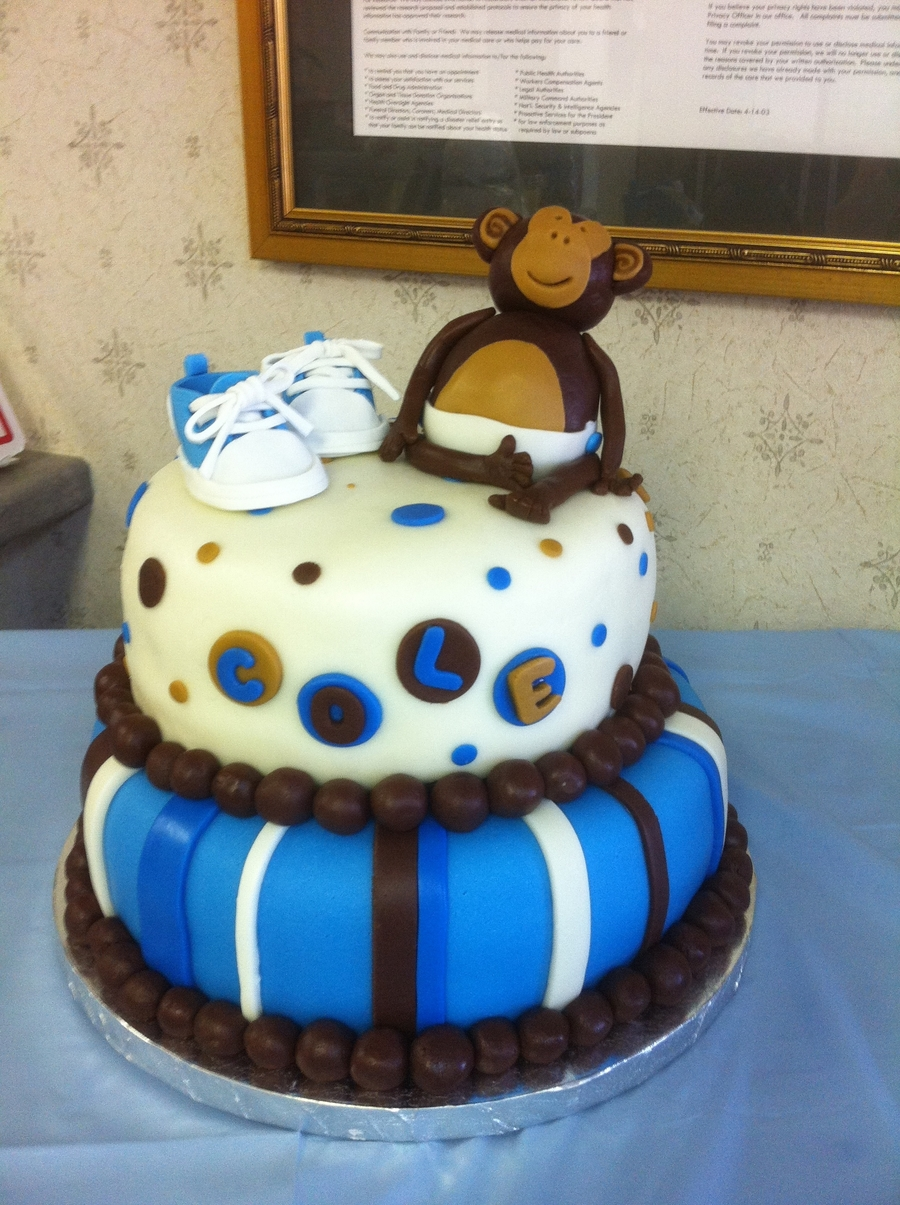 Cole's Baby Shower Cake on Cake Central