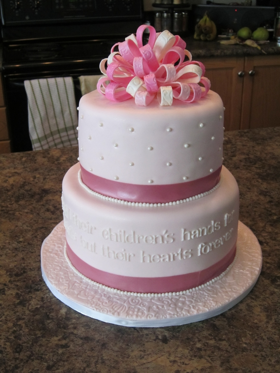 Pink & White Mother's Day Or Birthday Cake on Cake Central