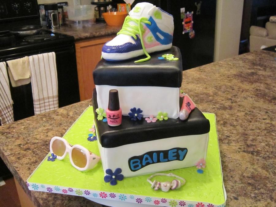 Dc Skater Running Shoe Shoe Box Cake Cakecentral