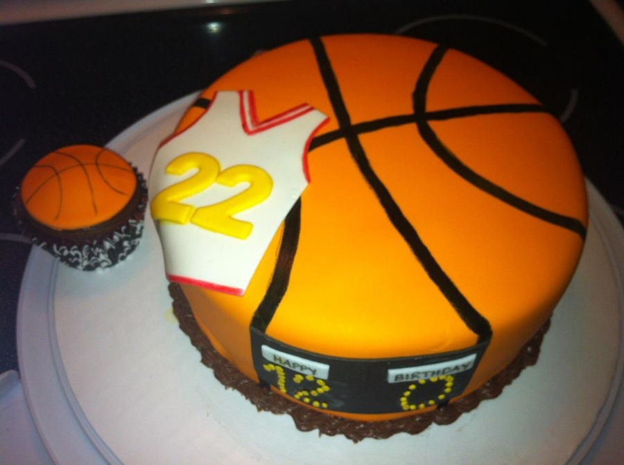 Terrific Basketball Birthday Cake Cakecentral Com Funny Birthday Cards Online Alyptdamsfinfo