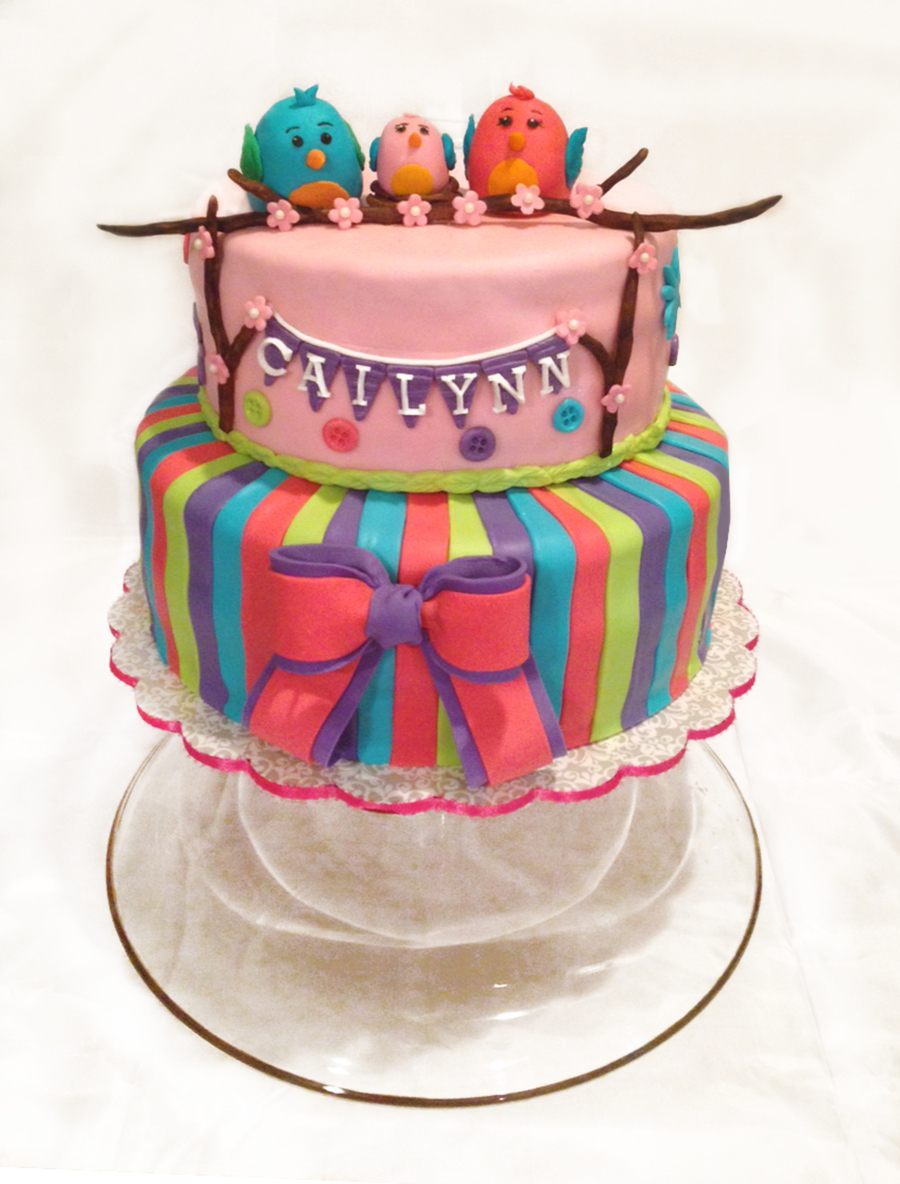 Tweet Baby Girl Baby Shower Cake Cakecentralcom