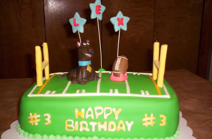 Scooby Doo Football Mm Fondant Cake on Cake Central