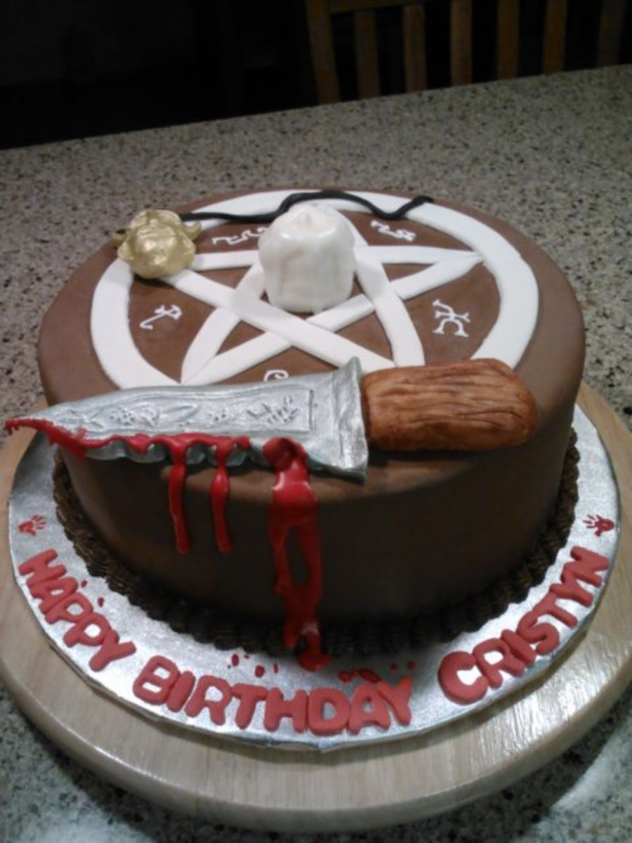 Supernatural Themed Birthday Cake