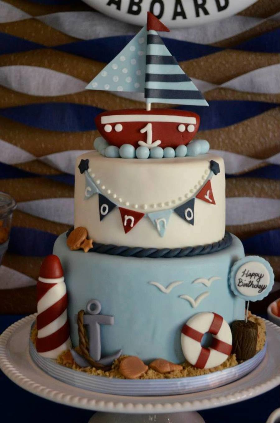 Nautical 1St Birthday Cake on Cake Central