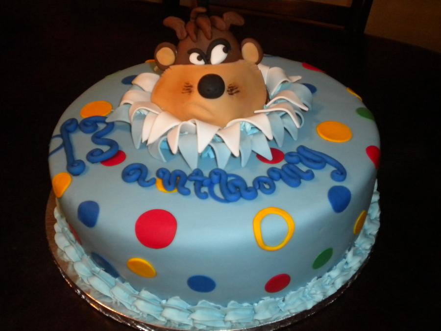 Tasmanian Devil Birthday Cake