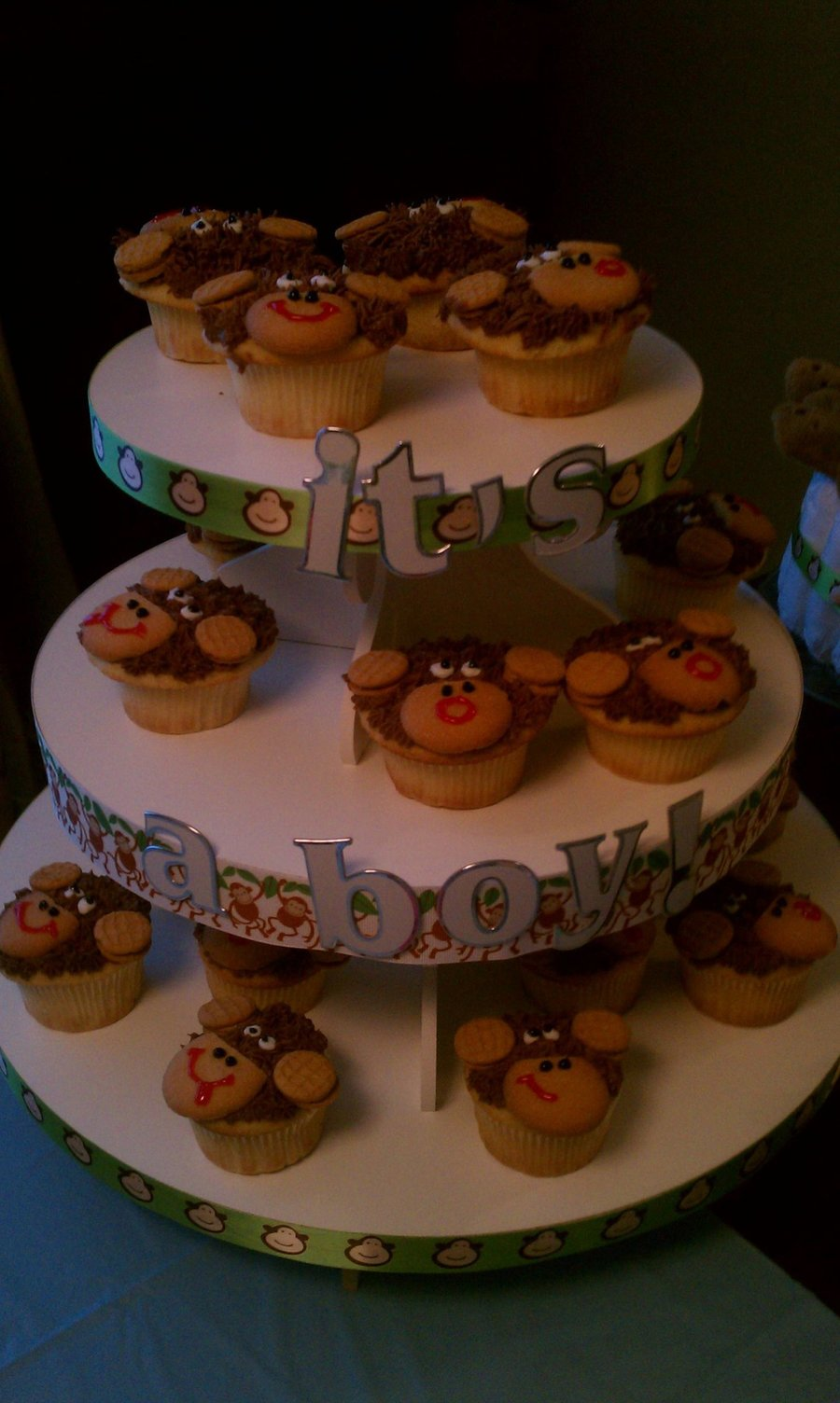 Monkey Baby Shower Cupcakes on Cake Central