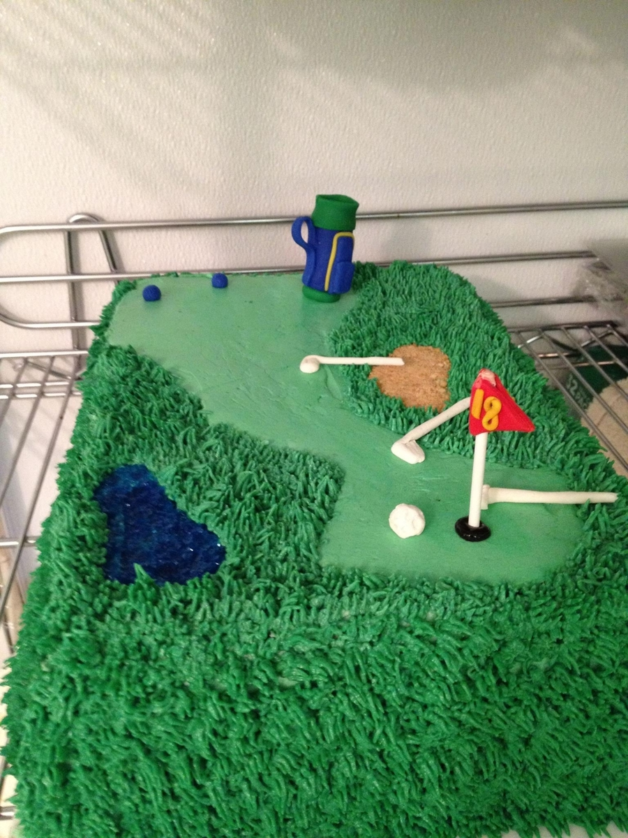 Golf Groom's Cake on Cake Central