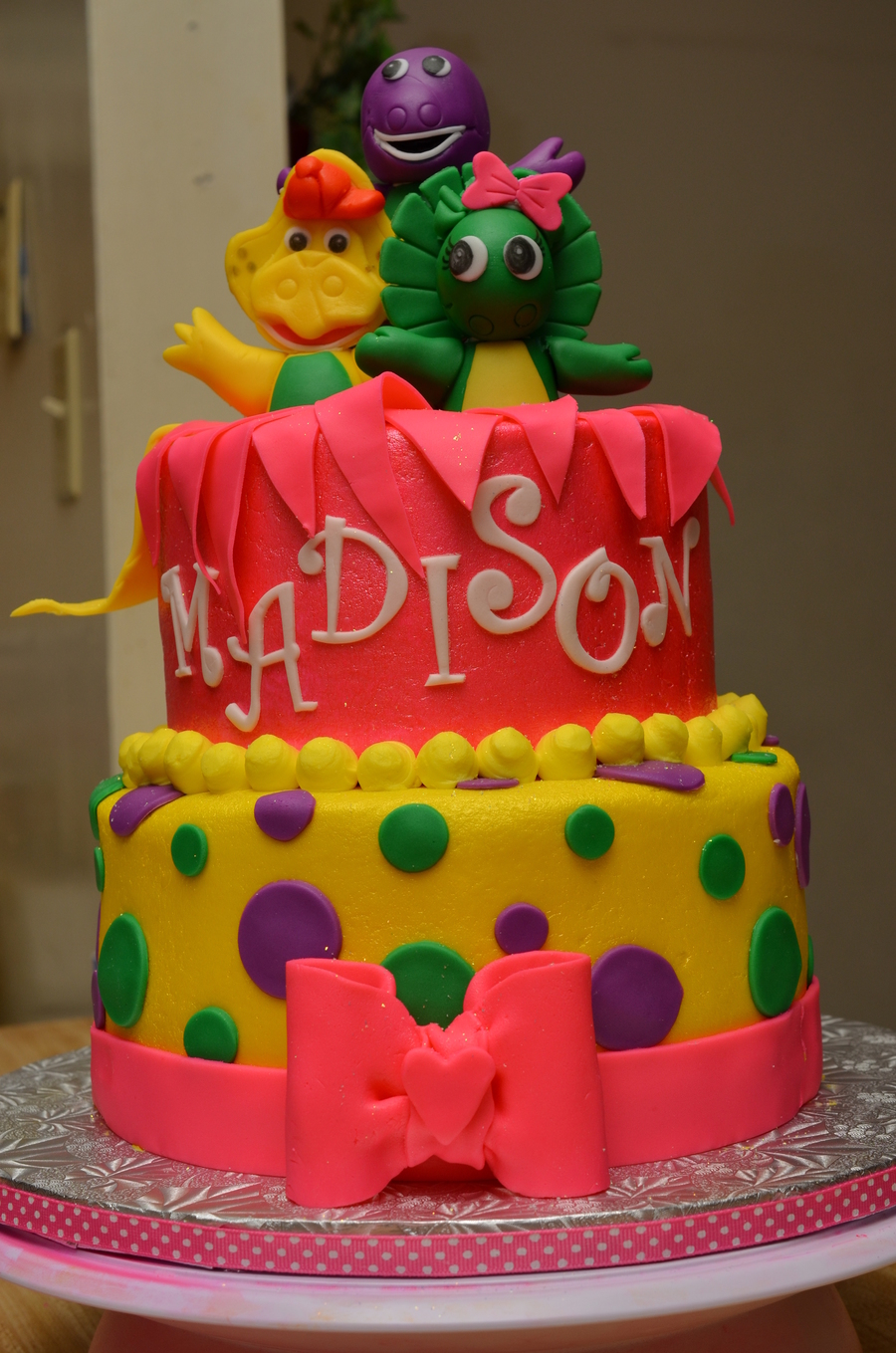 Barney Cake Decorating Ideas
