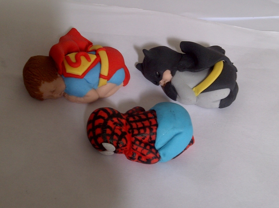 Superhero Baby Cake Toppers - CakeCentral.com