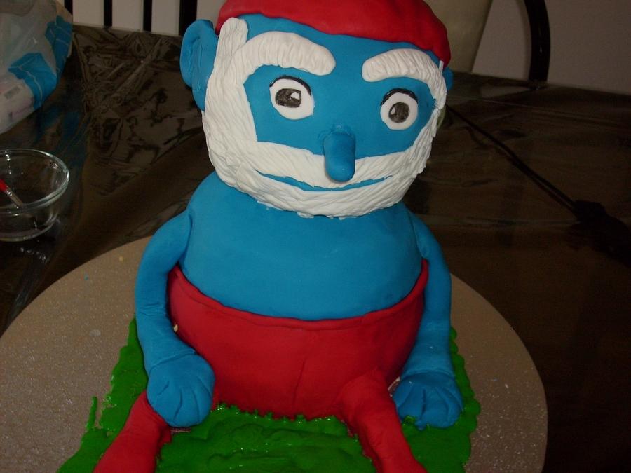 Papa Smurf Cake Cakecentral Com