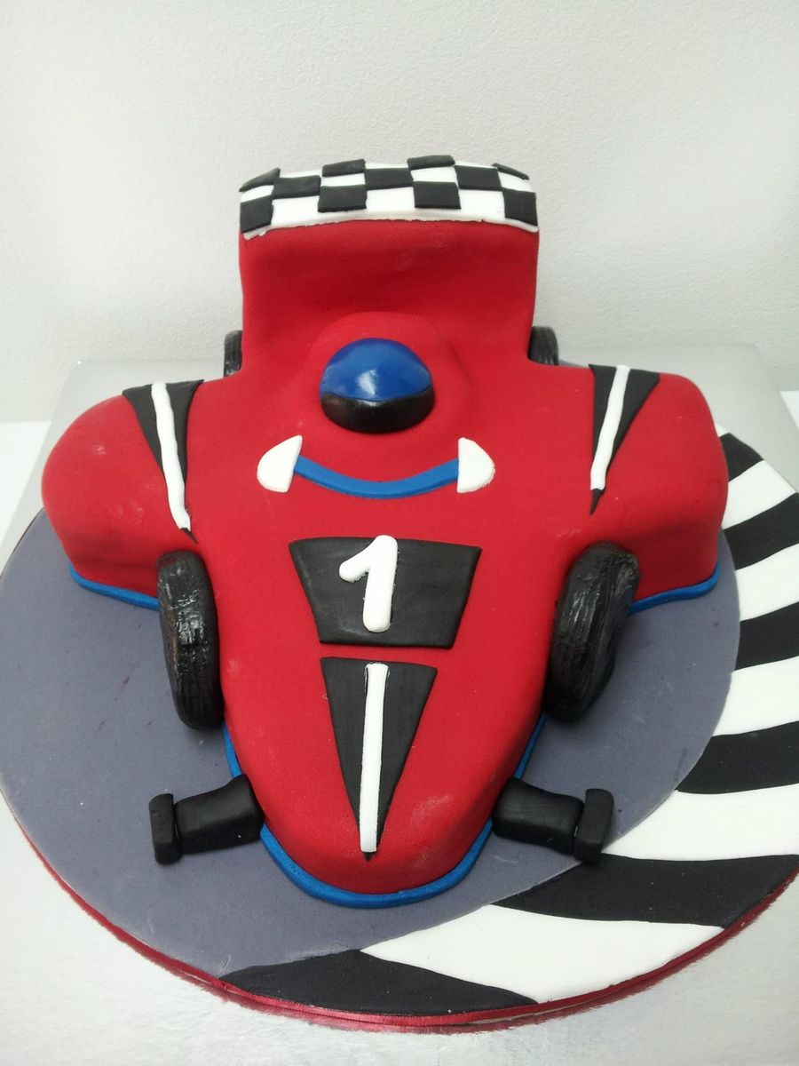Racing Car Birthday Cake on Cake Central